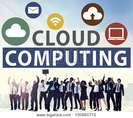 Cloud Computing Online Internet Sharing Storage Concept