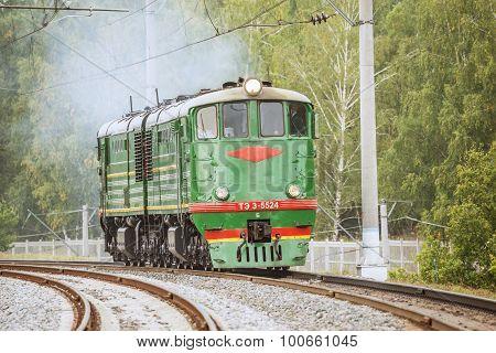 Retro Freight Diesel Locomotive.