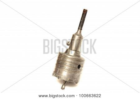 Big Auger For A Drill On A White Background
