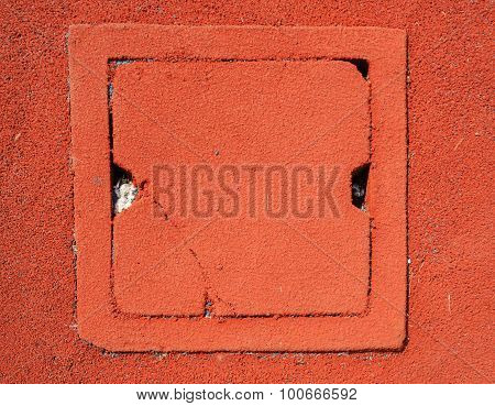 Drain Water Gate On Red Granule Rubber