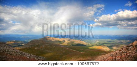 View from summit Mt. Evans Colorado