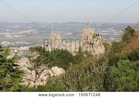 Overview Of Castle Of The Moors And Sintra Valley