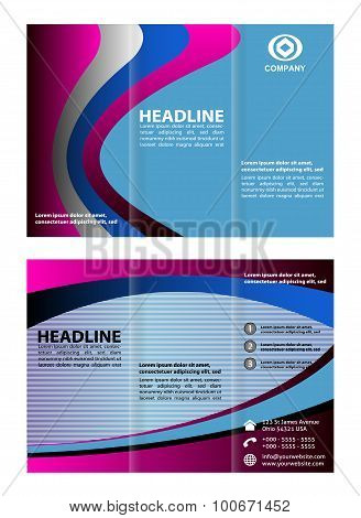 Tri-fold brochure template design