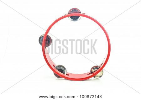 tambourine on white background