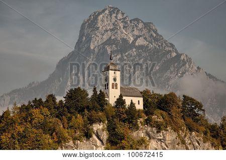 Views of Traunkirchen Traunsee in Salzkammergut Upper Austria