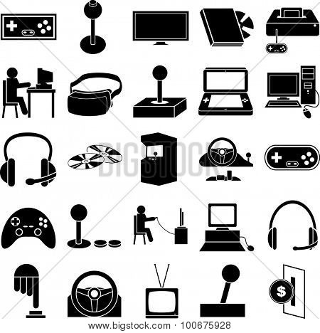 gaming symbols set