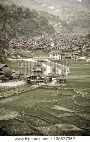 Aged image of Dong Chinese Village