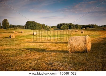 summer haystacks
