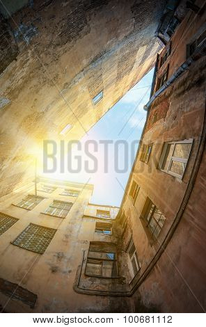 Morning Sunrise On The Old Streets Of The City