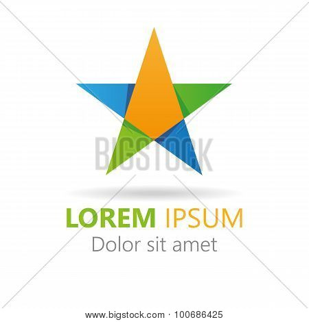 Abstract Stylish Colorful Star Icon. Elements Icon Logo