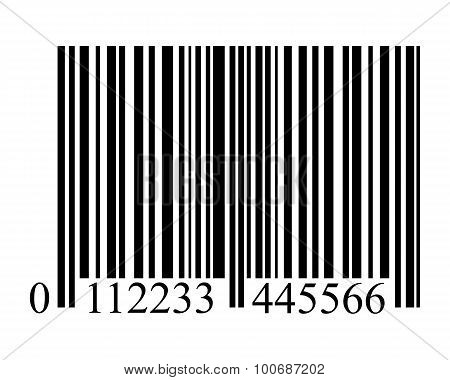 Bar Code On A White Background Isolated