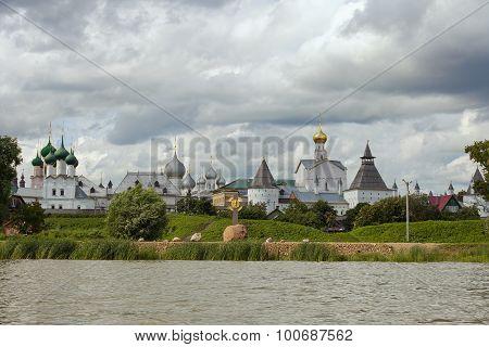 Rostov Kremlin on the lake Nero
