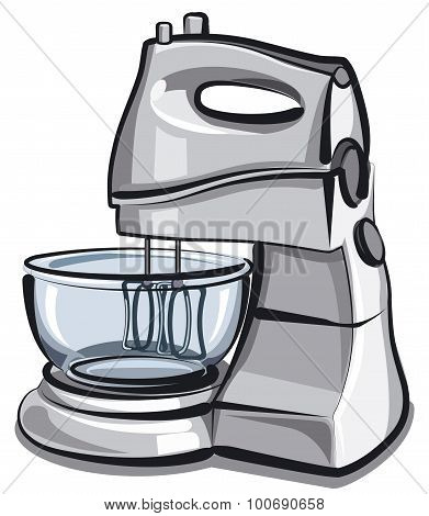 illustration of the food processor with bowl