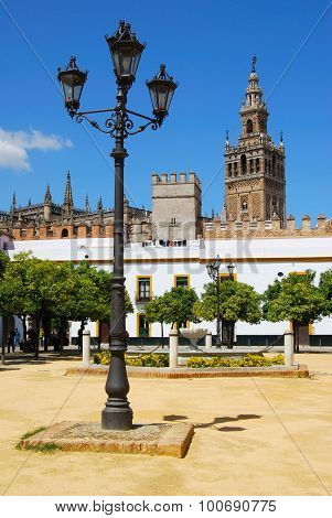La Giralda tower and plaza, Seville.