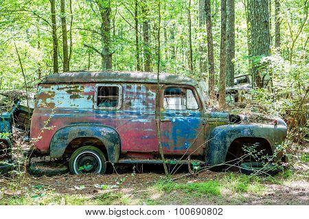 Old International Harvester Panel Truck