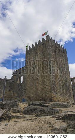 Castle In The Village Of Belmonte In Portugal