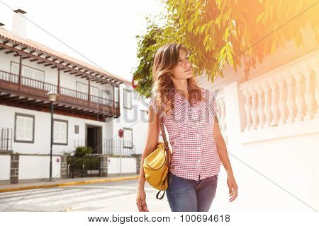 Young Caucasian Woman Looking Away With Confidence