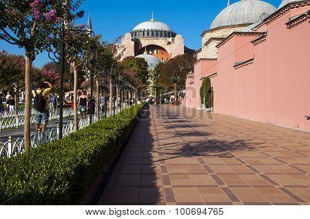 Hagia Sophia in Sultanahmet district
