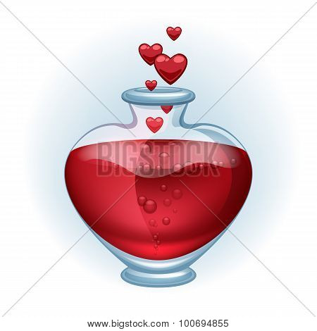 Love potion icon beautiful vector illustration.