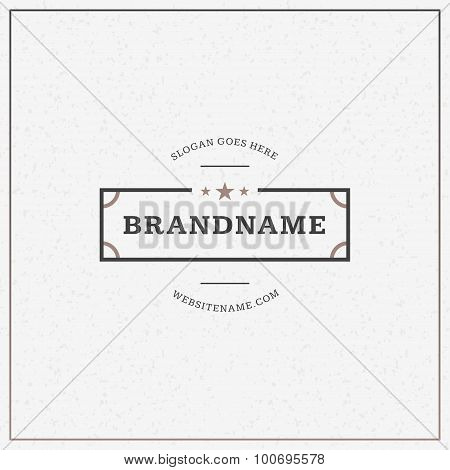 Minimal And Clean Vintage Hipster Logotype Template