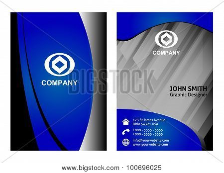 Set of vertical business card