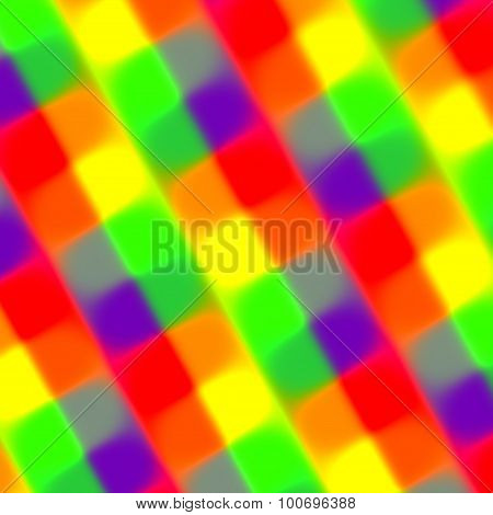Colorful blurry rectangles background. Faded edge. Web element. Funky vivid shade. Mixed fiber.