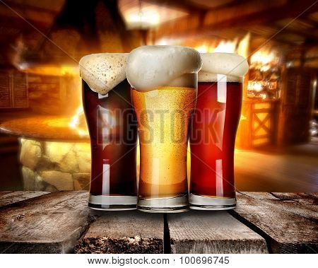 Beer in bar