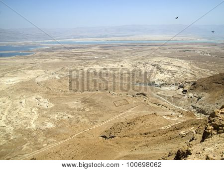 Judean Desert And Dead Sea Landscape In Israel