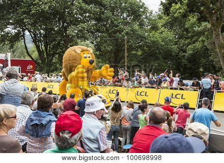 Lcl Lion Mascot - Tour De France 2015