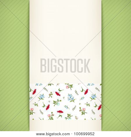Vector invitation card with floral pattern.