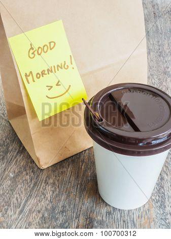 Take Away Cup Of Coffee