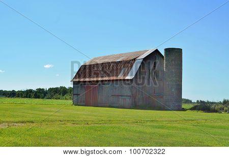 Rustic vintage storage barn