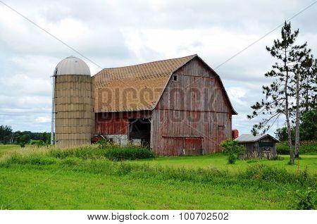 Weathered vintage barn