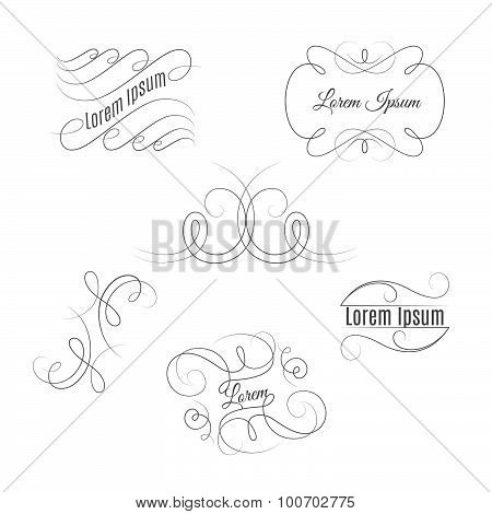 Set of beautiful vintage flourishes.