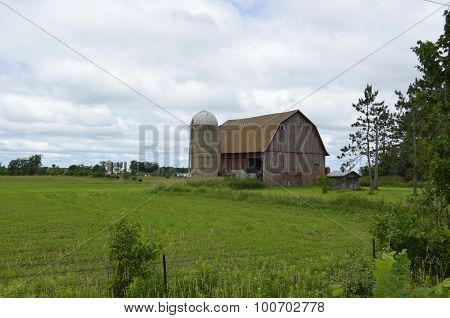 Rustic and weathered barn