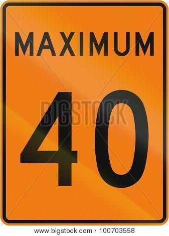 Temporary Maximum Speed 40 Kmh In Canada