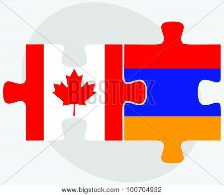 Canada And Armenia Flags