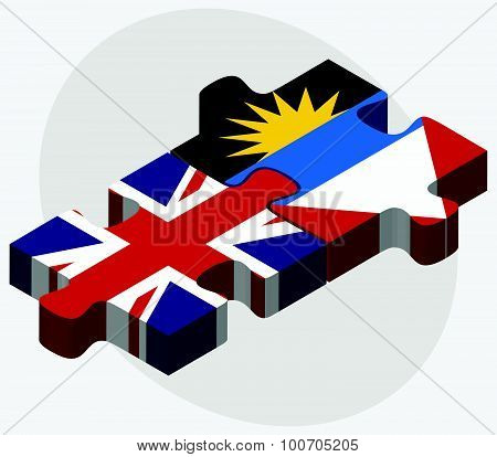 United Kingdom And Antigua And Barbuda Flags