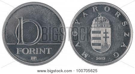 Hungarian Forint Ten Coin