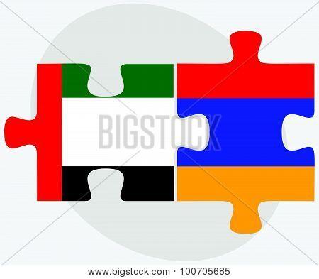 United Arab Emirates And Armenia Flags