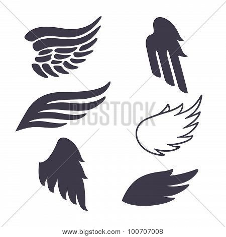 Set of Six Vector Silhouettes