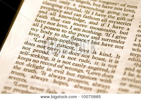 Love Is Patient Bible Verse