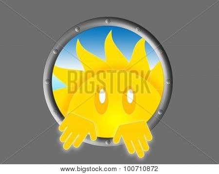 Symbol of the sun look