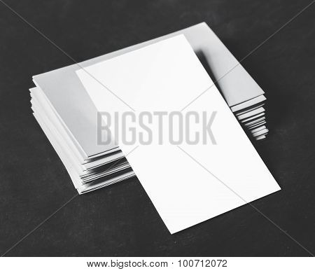 Blank Business Cards On The Stack
