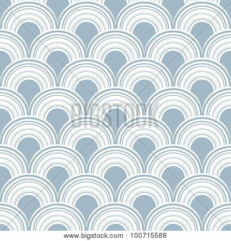 Seamless abstract modern arc pattern.
