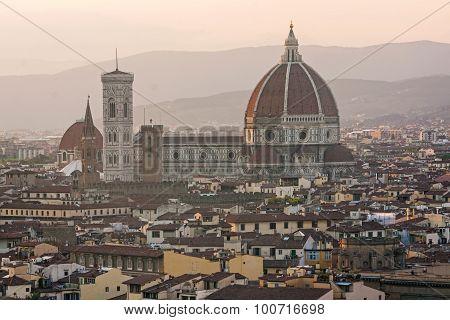 Panoramic view of Duomo - Florence, italy - tuscany