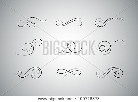Vector Calligraphic Flourishes