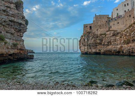 view of polignano a mare, italy - puglia
