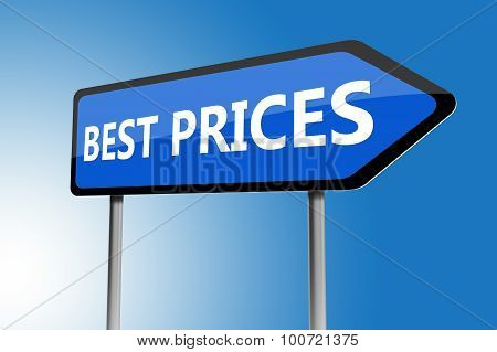 Illustration Of Best Prices Directions Sign