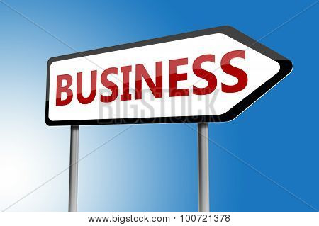 Illustration Of Business Directions Sign